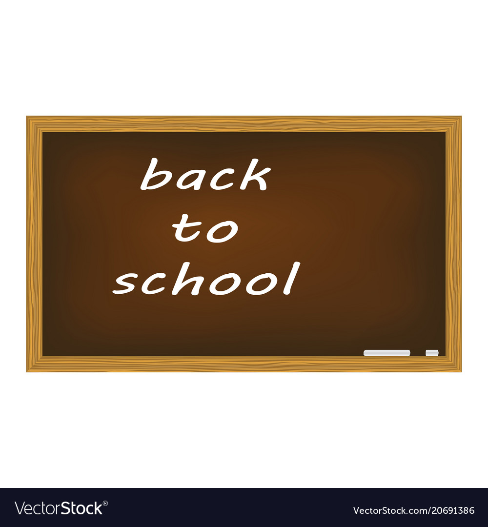 Blackboard isolated on white background vector image