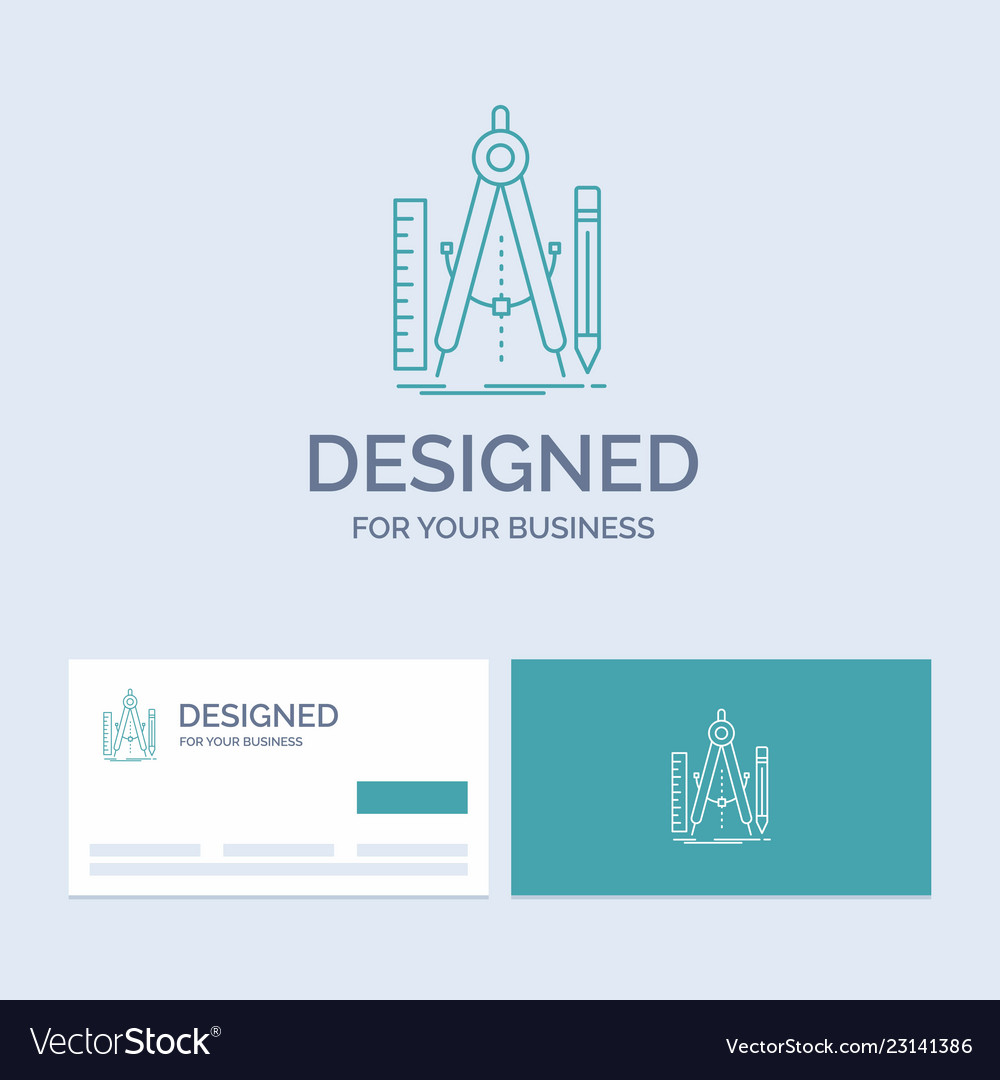 build design geometry math tool business logo vector image
