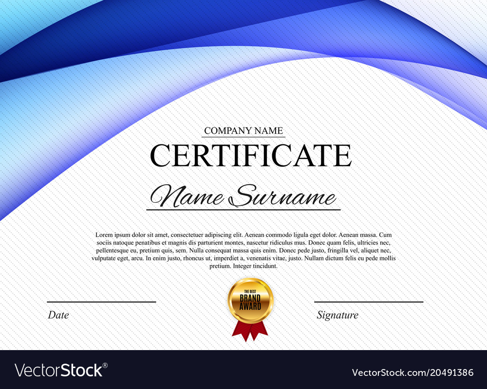 Certificate template background award diploma