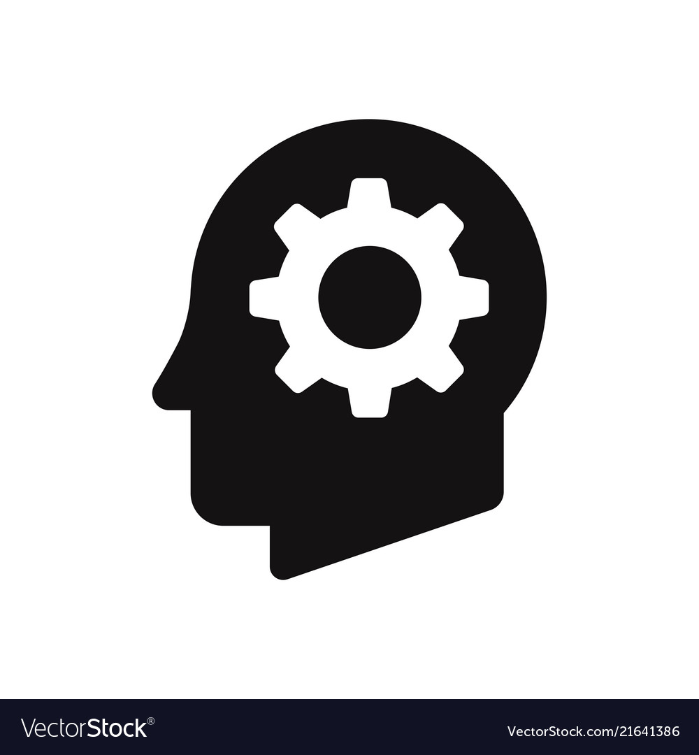 Cog in head icon