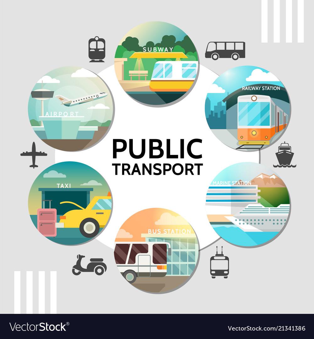 Flat public transport round concept