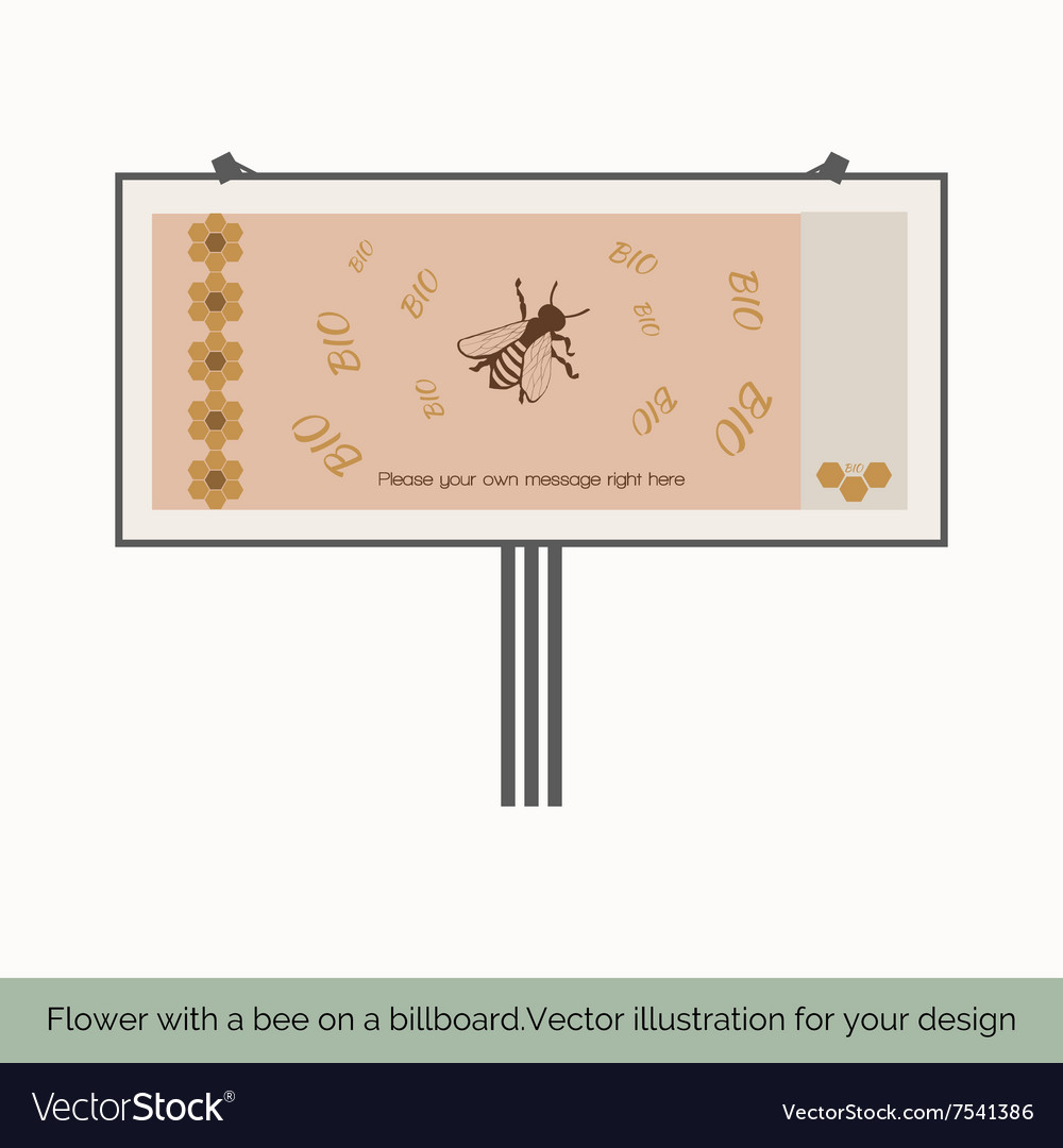 Flower with bee on a billboard 4