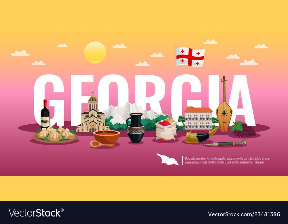 Georgia tourism horizontal composition