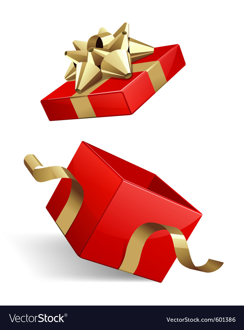 Opened gift box royalty free vector image vectorstock opened gift box vector image negle Image collections