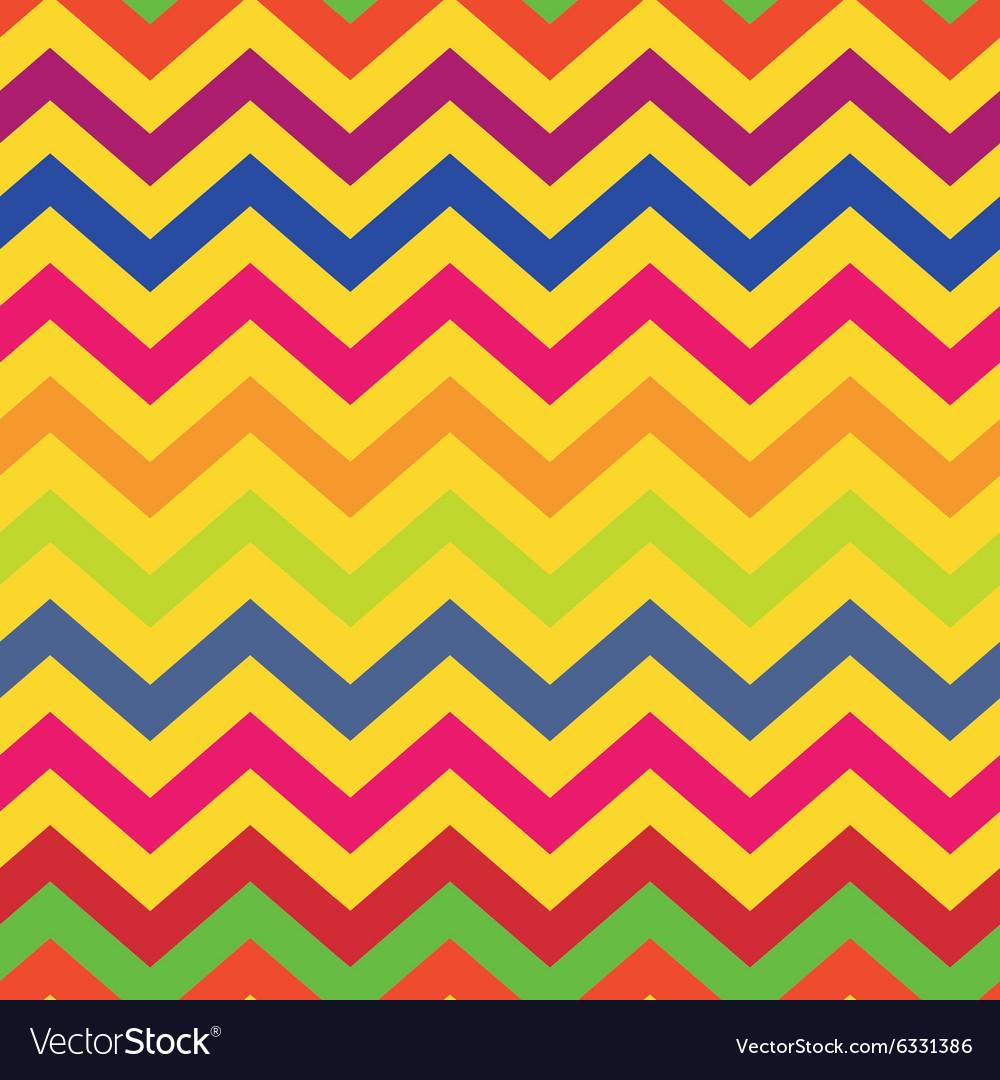 Seamless pattern colorful chevron