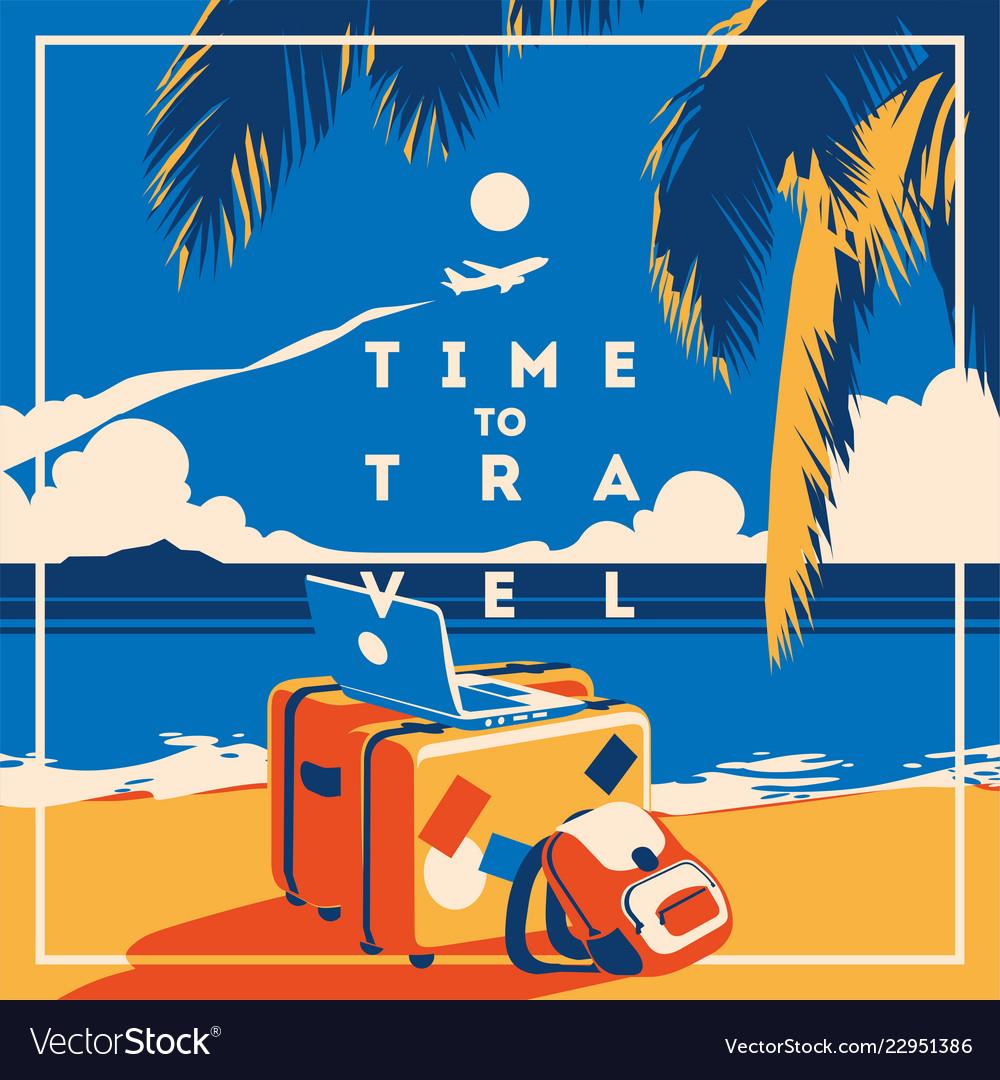 Summer holiday and summer camp poster