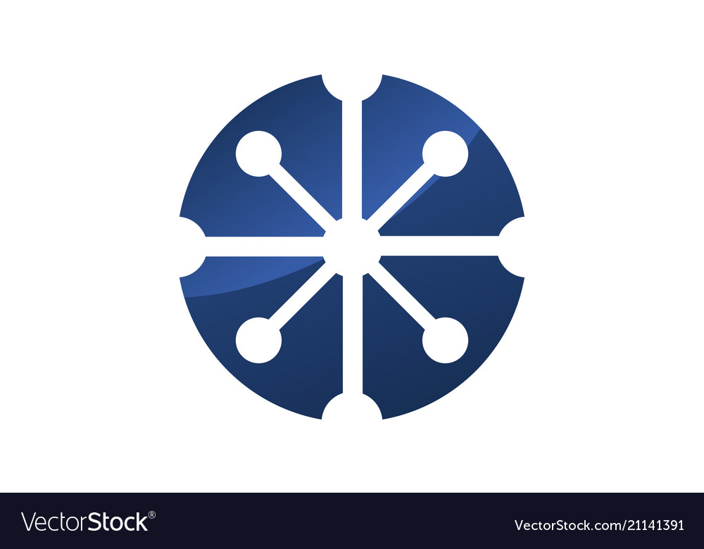 Atom logo design template
