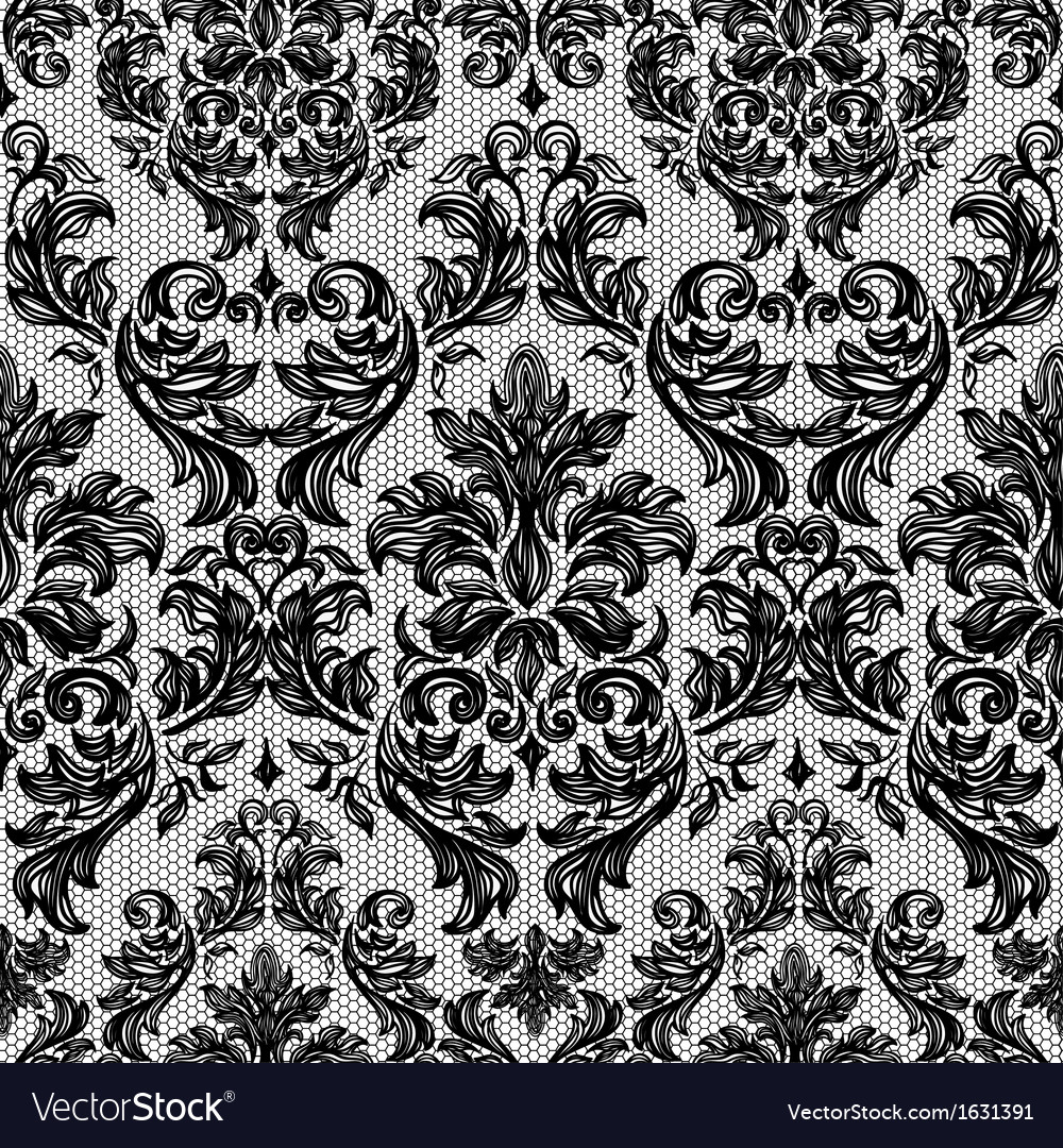 Baroque seamless vintage lace background