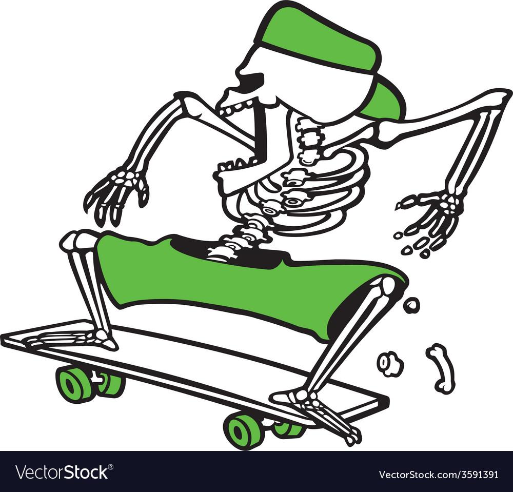Bones grinder vector image