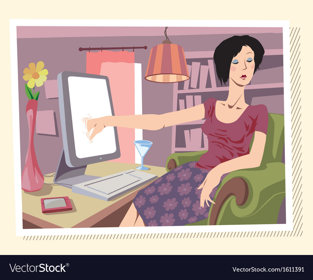 Browsing the Internet vector image