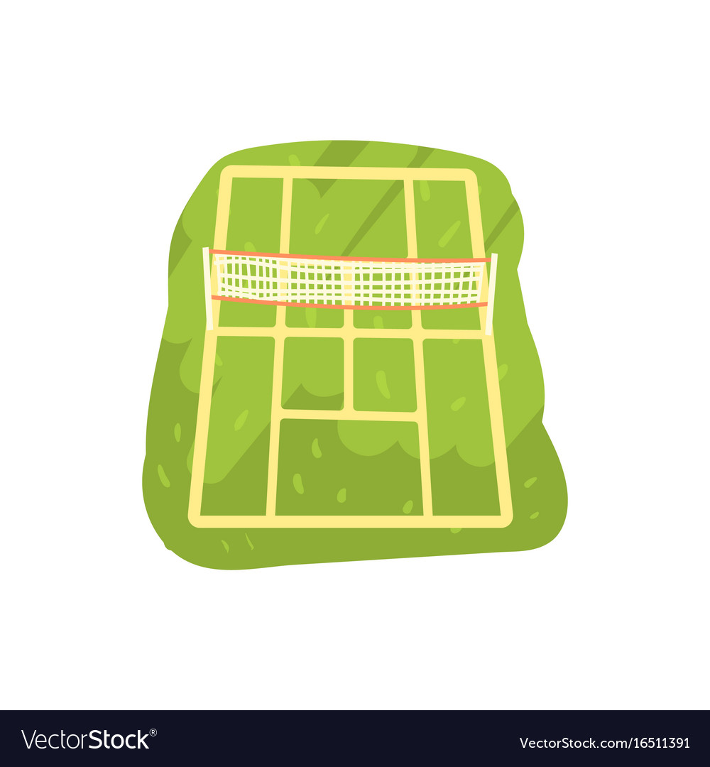 Green tennis court cartoon