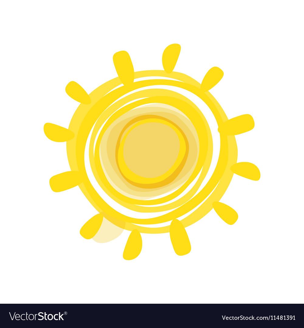 Hand drawn sun picture