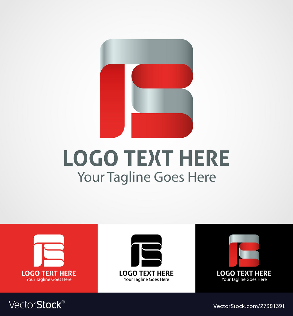Hi-tech trendy initial icon logo b