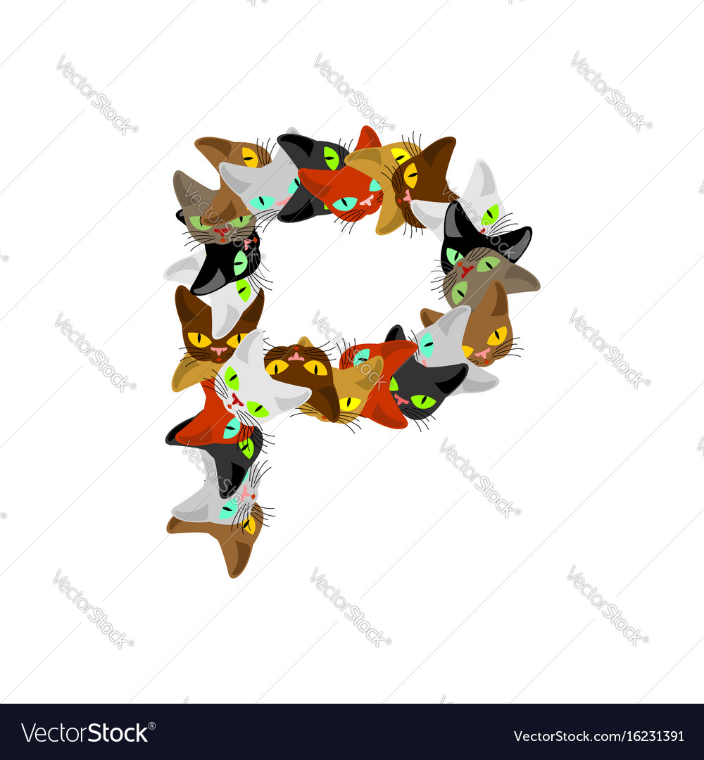 Letter p cat font pet alphabet symbol home animal