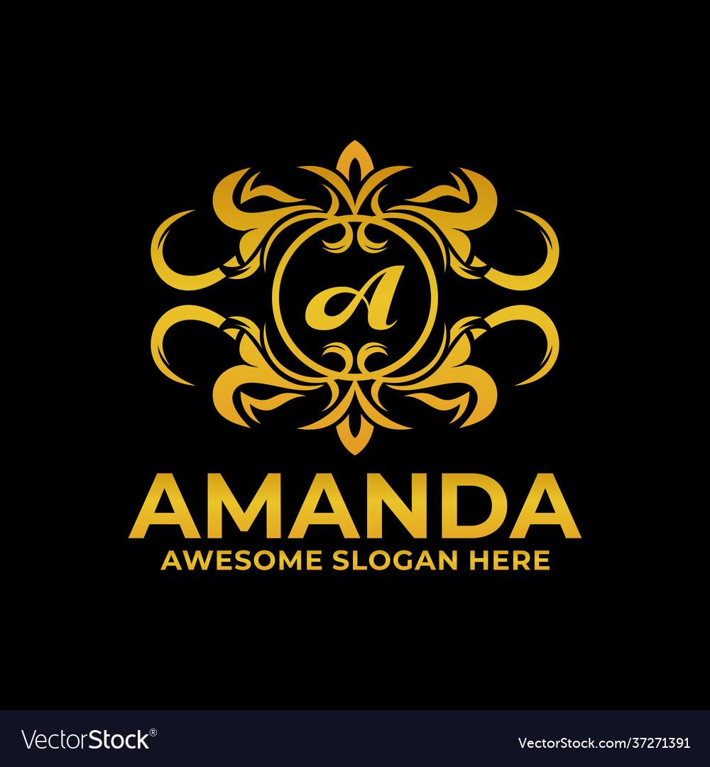 Logo amanda gold color luxury style