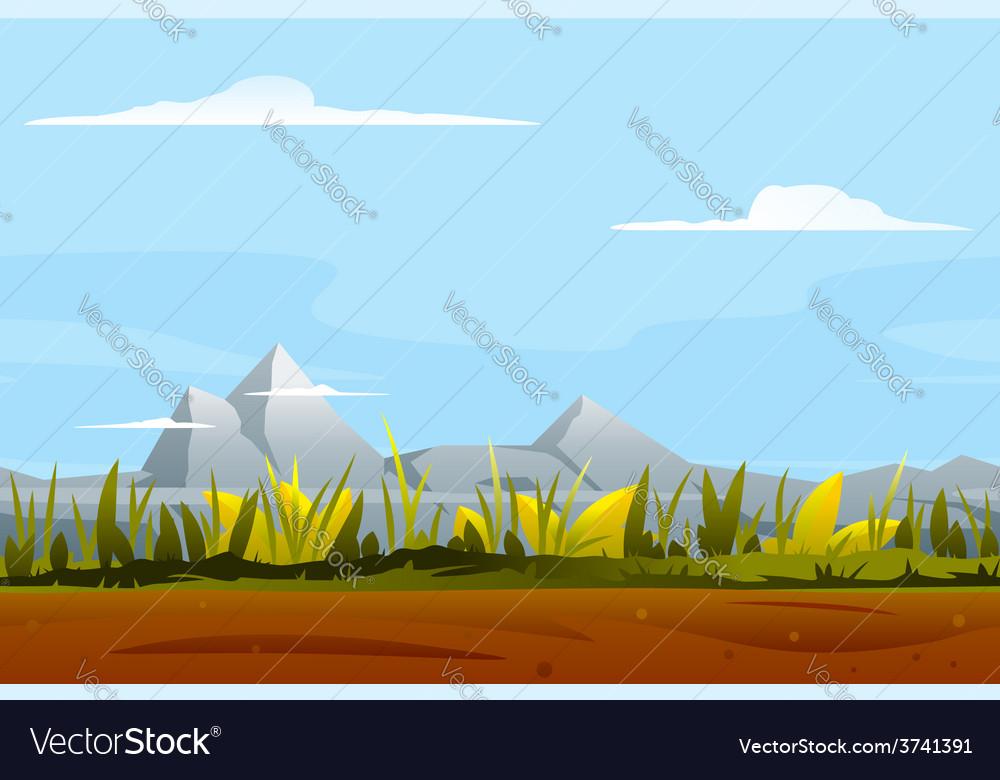 Nature Game Background Landscape Royalty Free Vector Image
