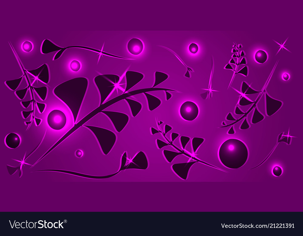 Pattern from black lilac vegetative elements on a
