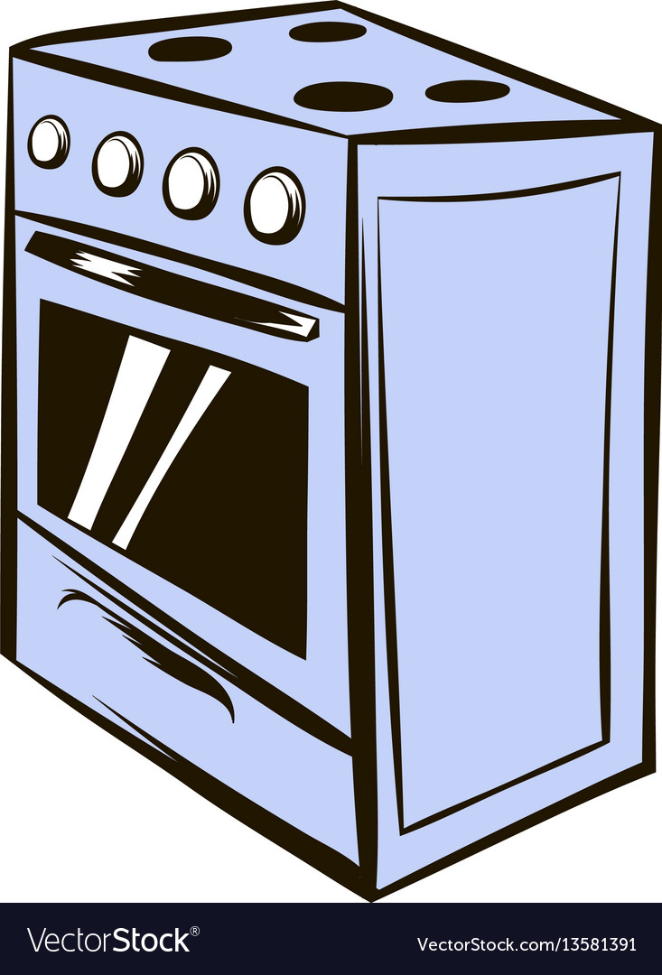 white oven icon cartoon royalty free vector image