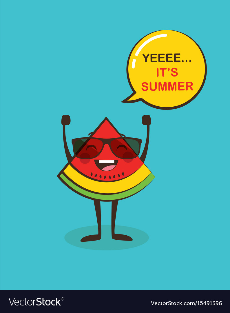 It is summer time funny watermelon character
