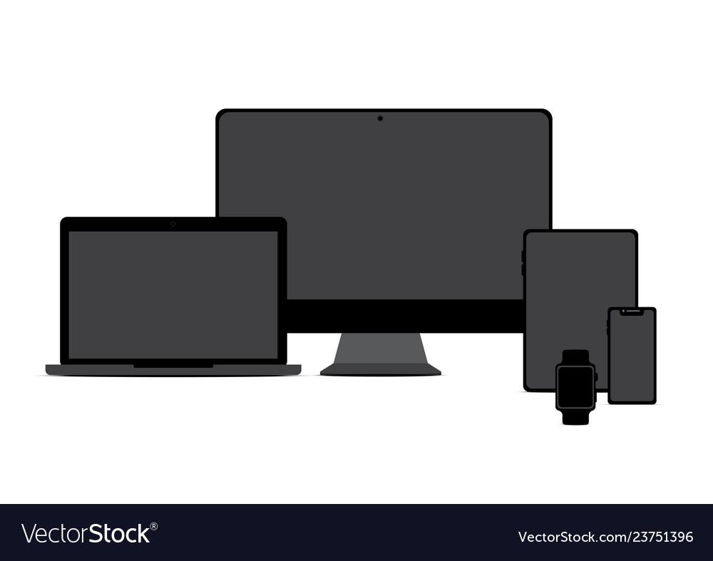 Mock up realistic monitor laptop tablet smart