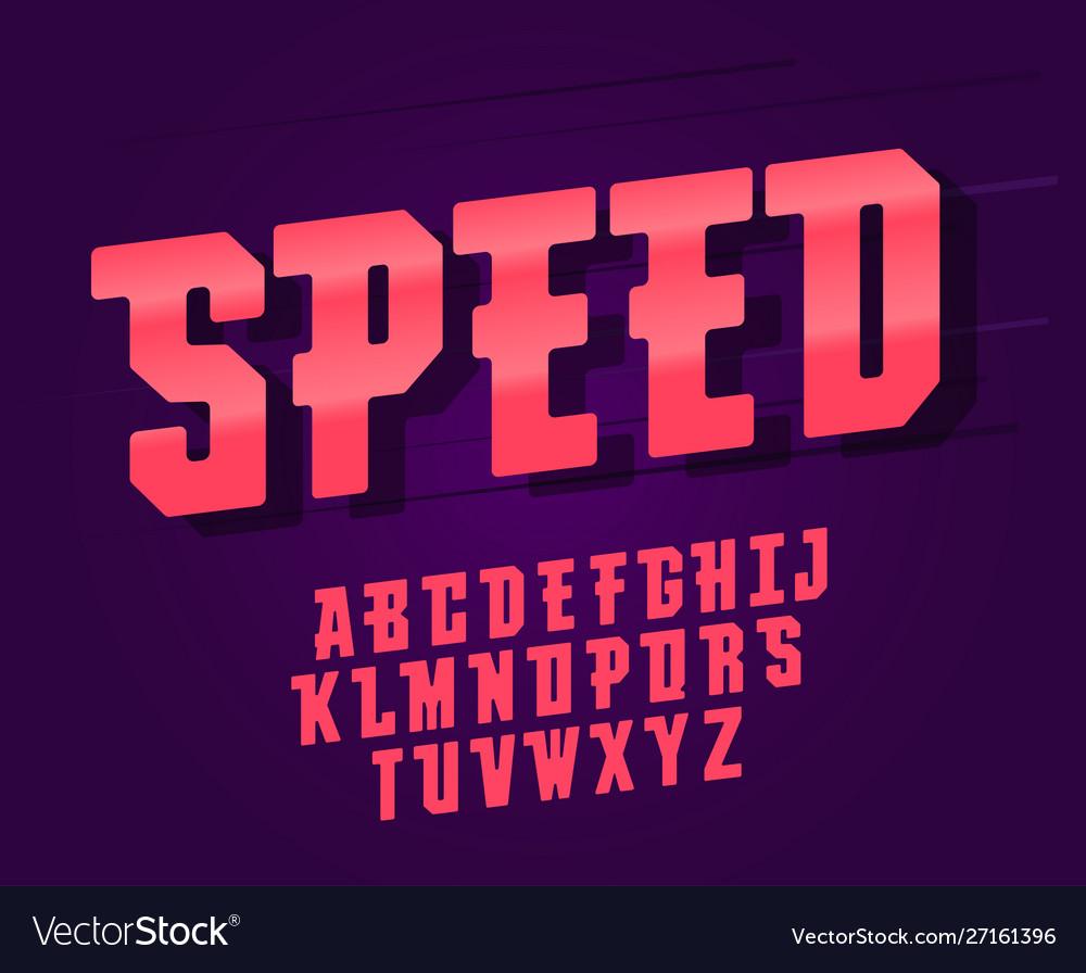 Modern elegant font and alphabet abc typography
