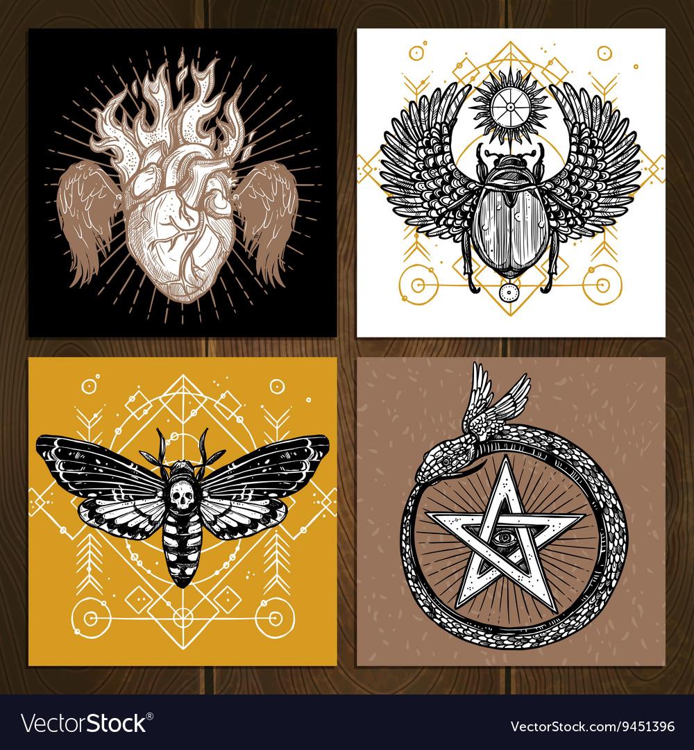 Occult Tattoo Set