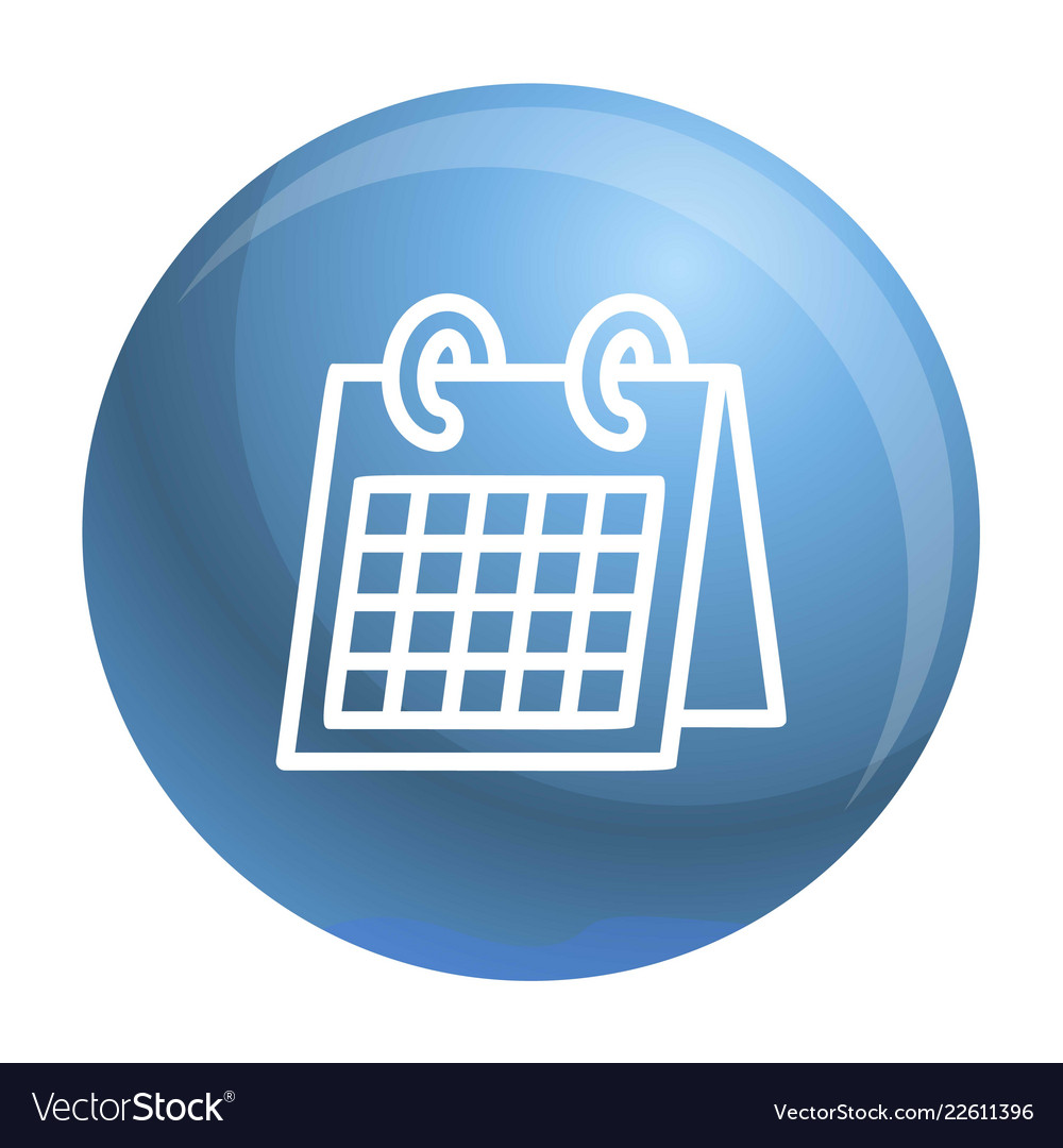 Office calendar icon outline style