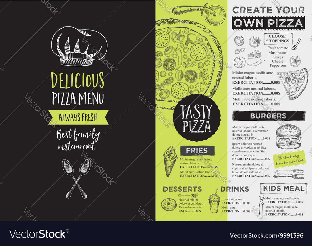 restaurant cafe menu template design royalty free vector