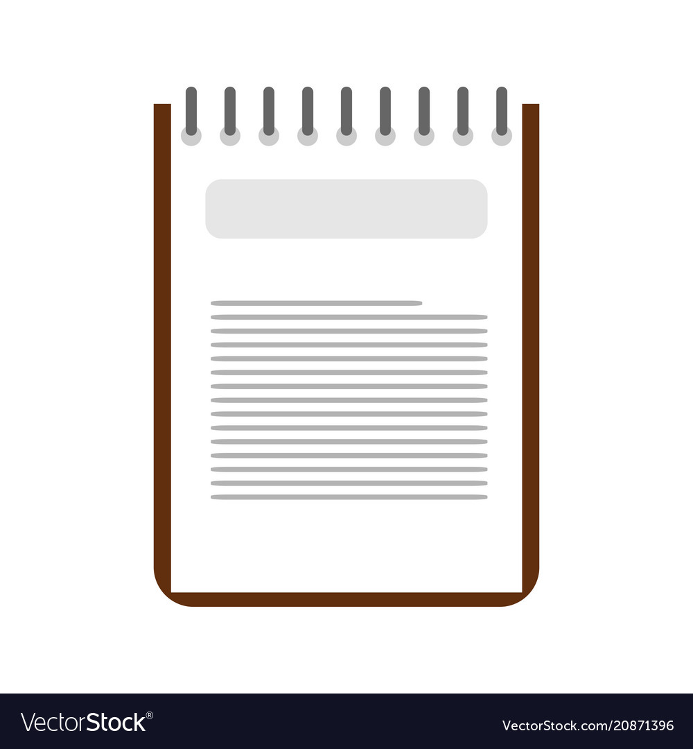 simple binder note design royalty free vector image