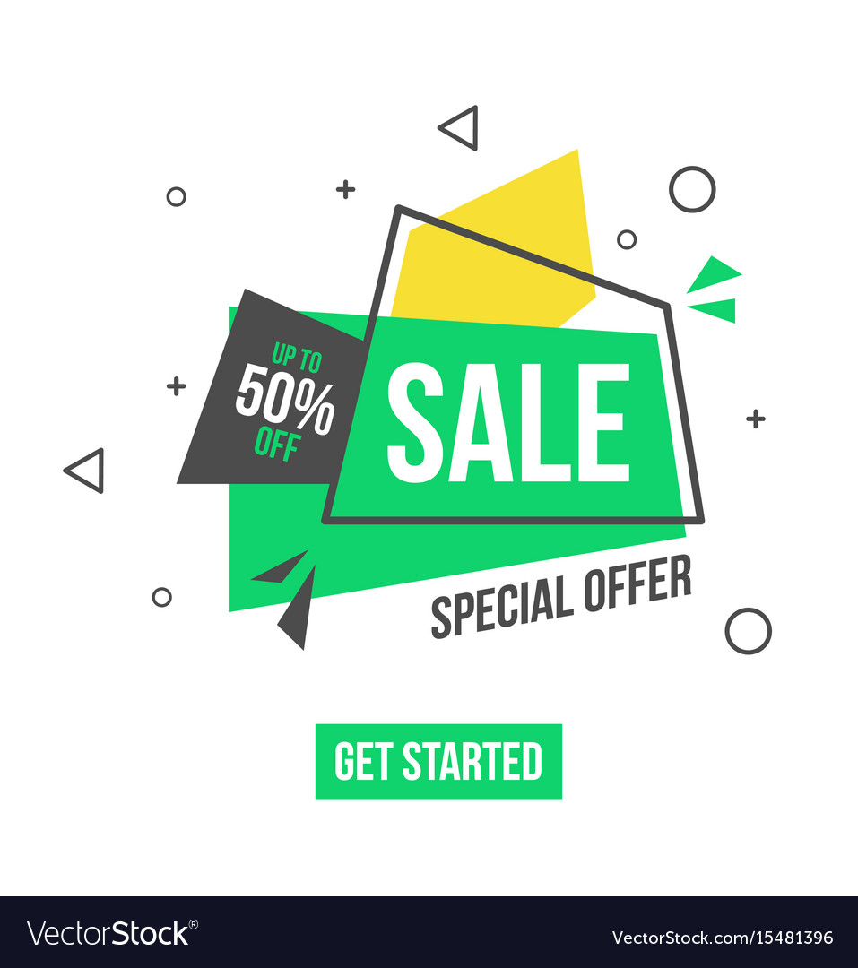 Special offer banner in flat style