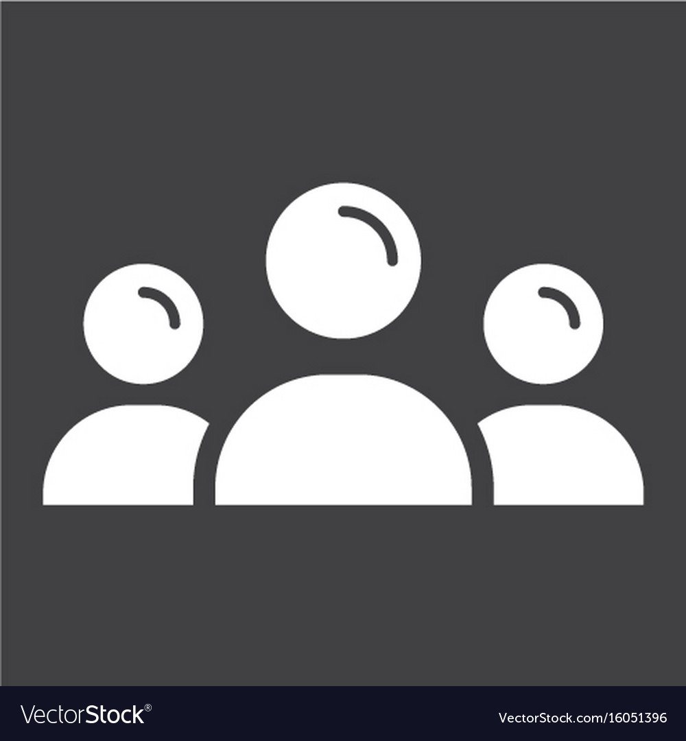 Team solid icon business and group vector image