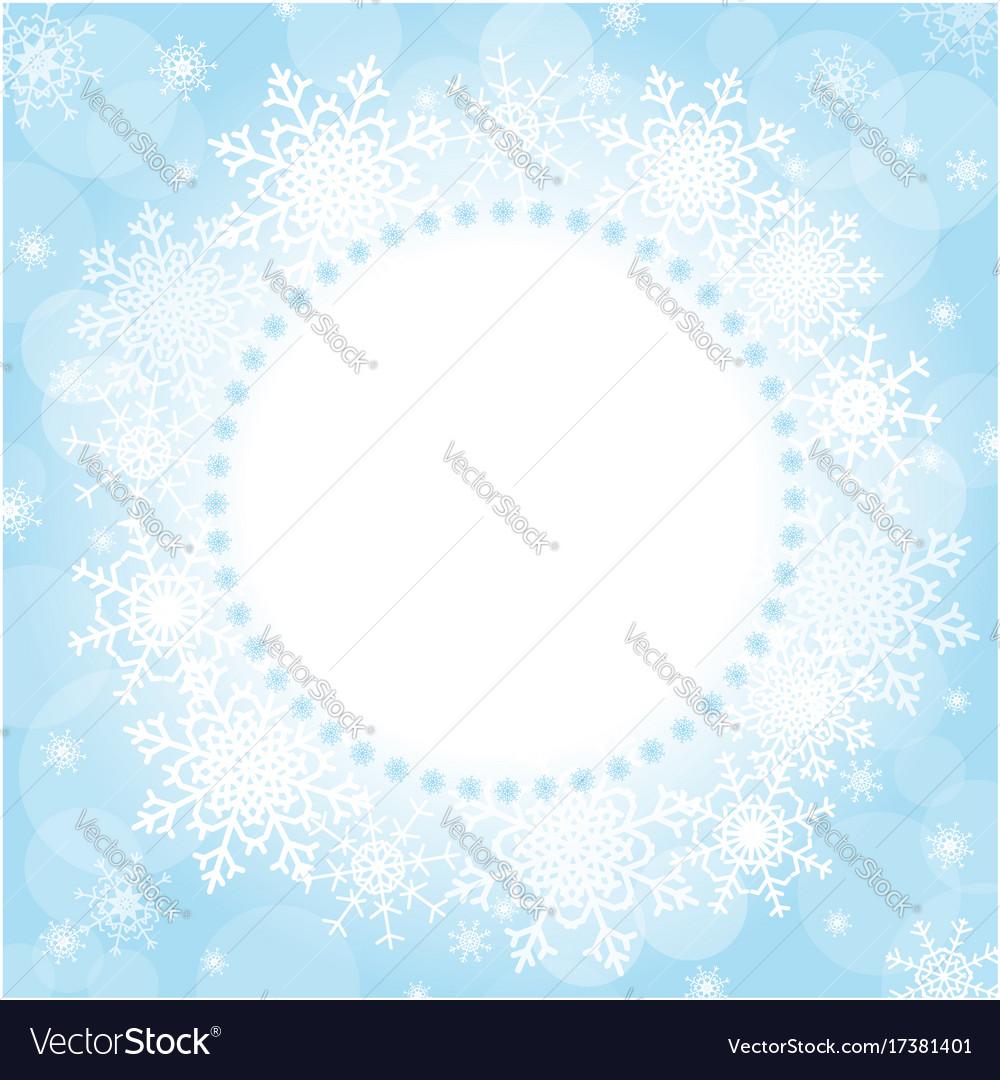 Christmas snowflakes frame