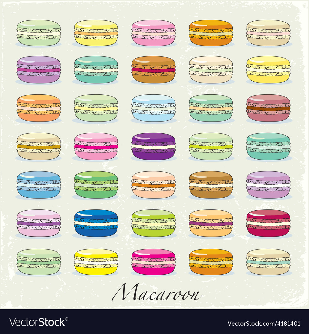 Colorful macaroon set