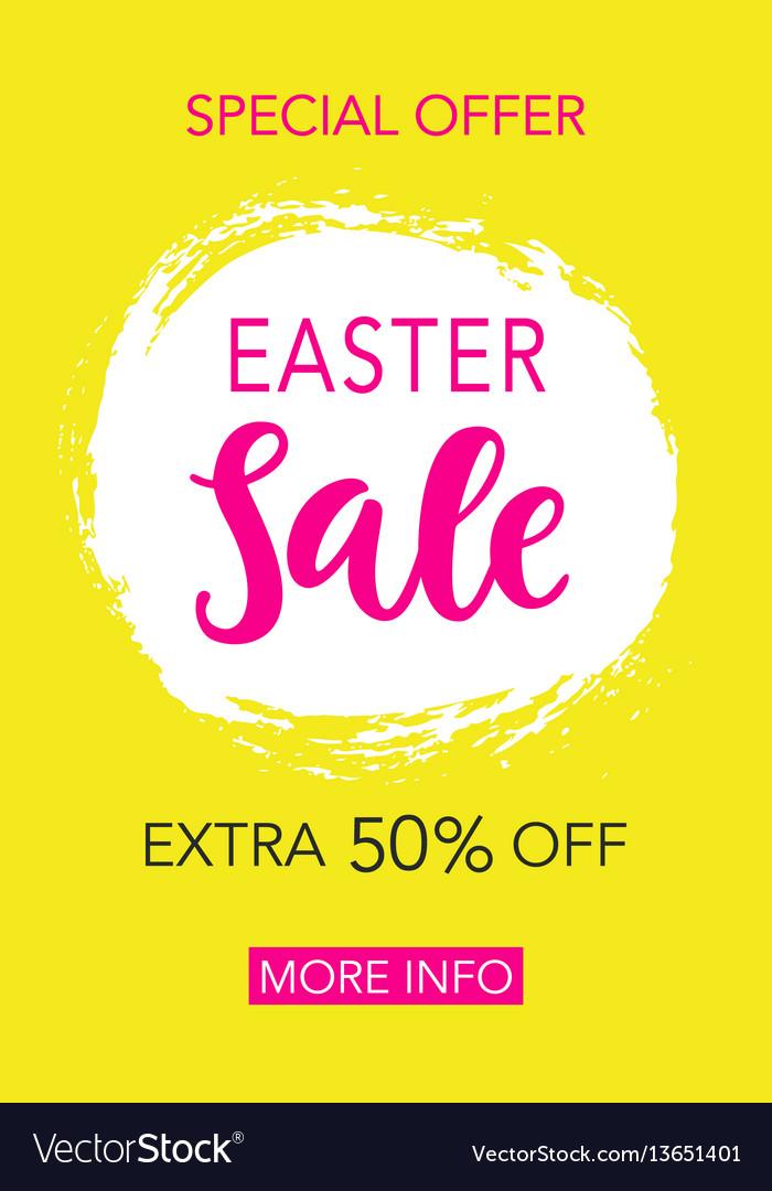 Easter sale banner design