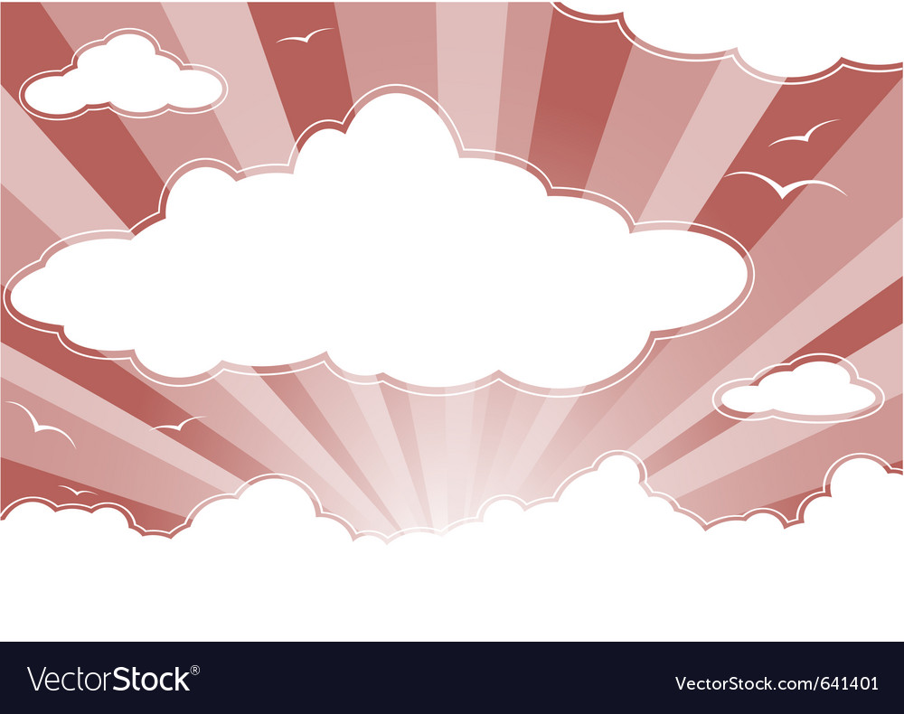 Evening sky vector image