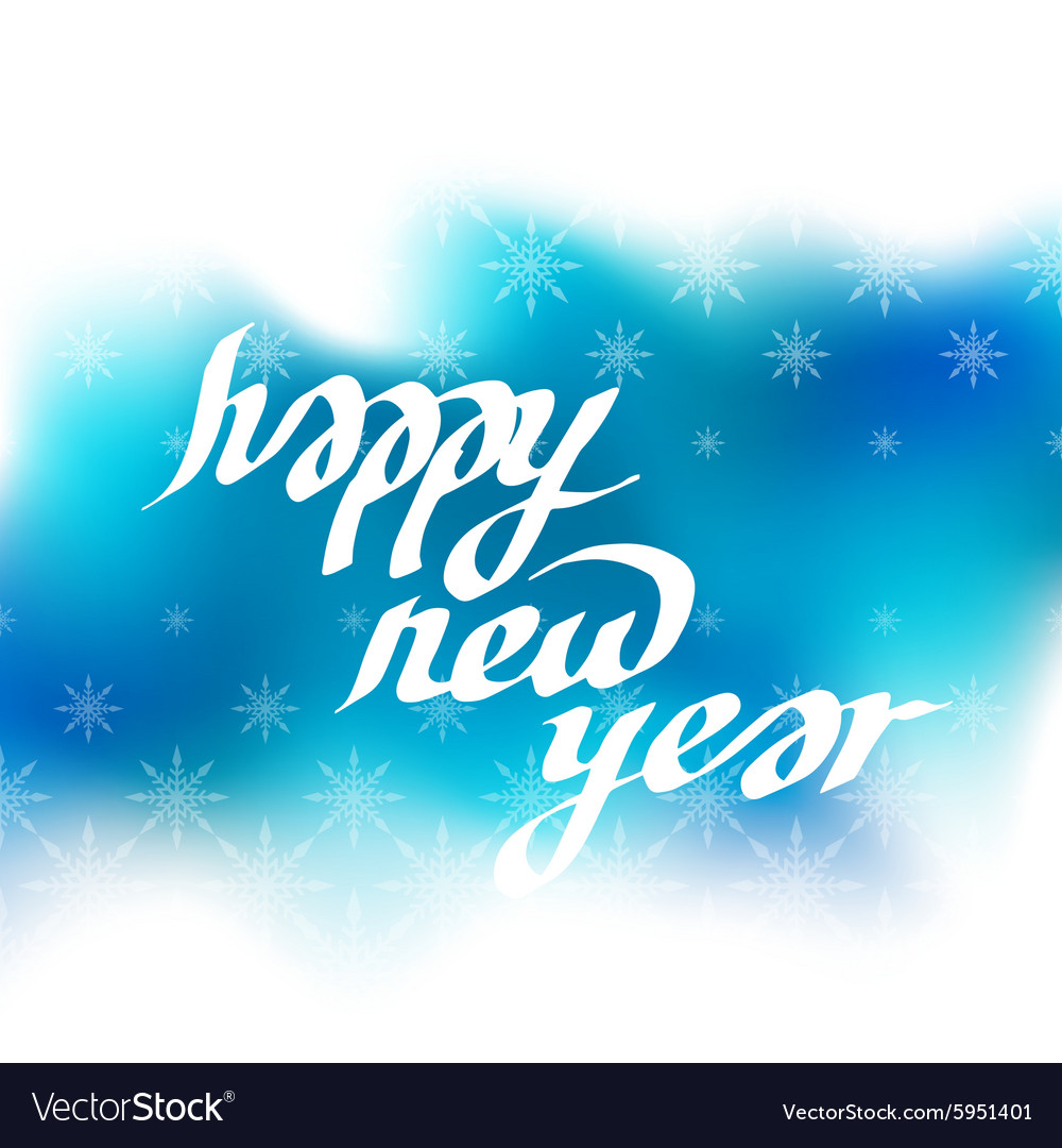 New Year greeting card with lettering Blur
