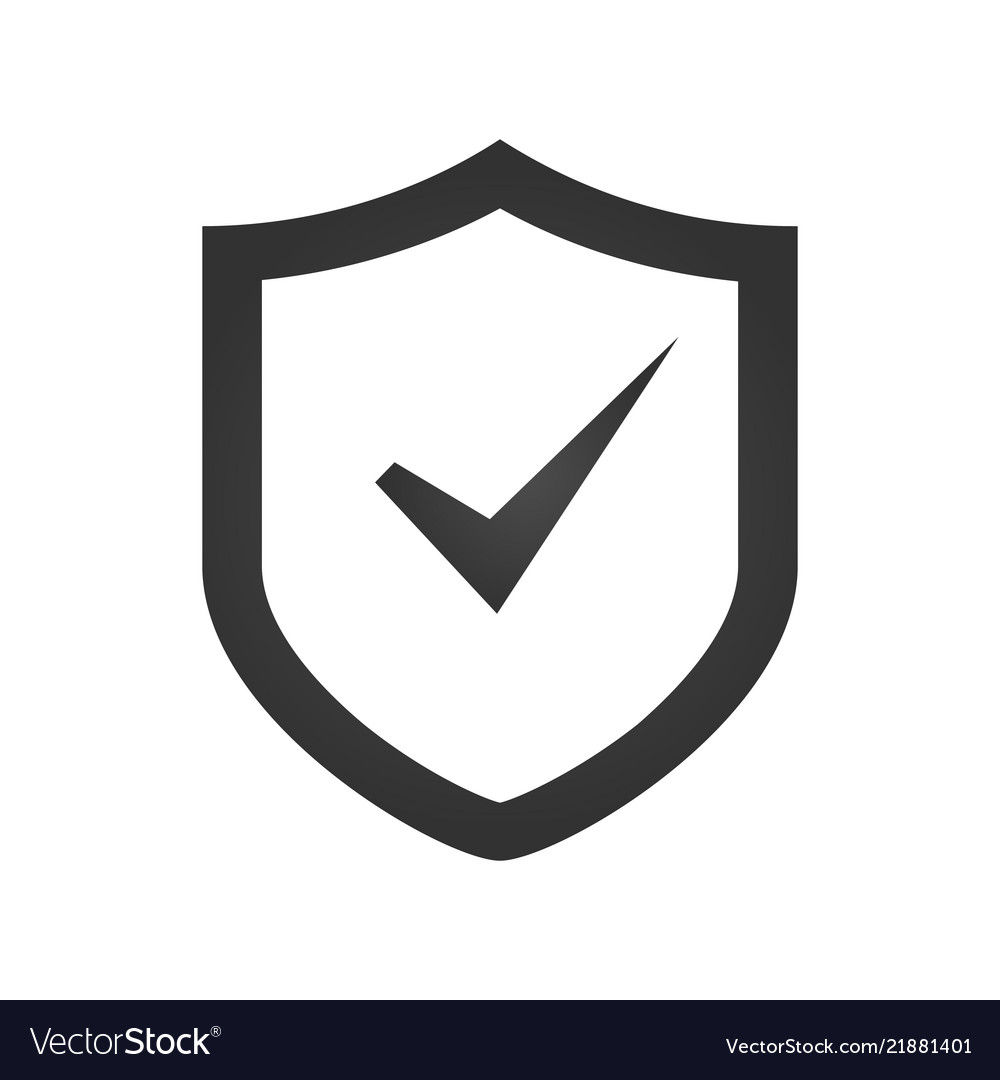 Shield Check Mark Logo Icon Design Template Vector Image