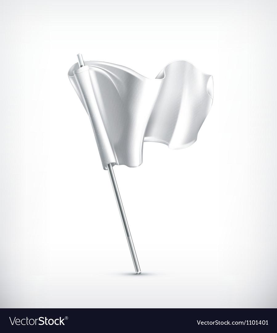 White flag vector image