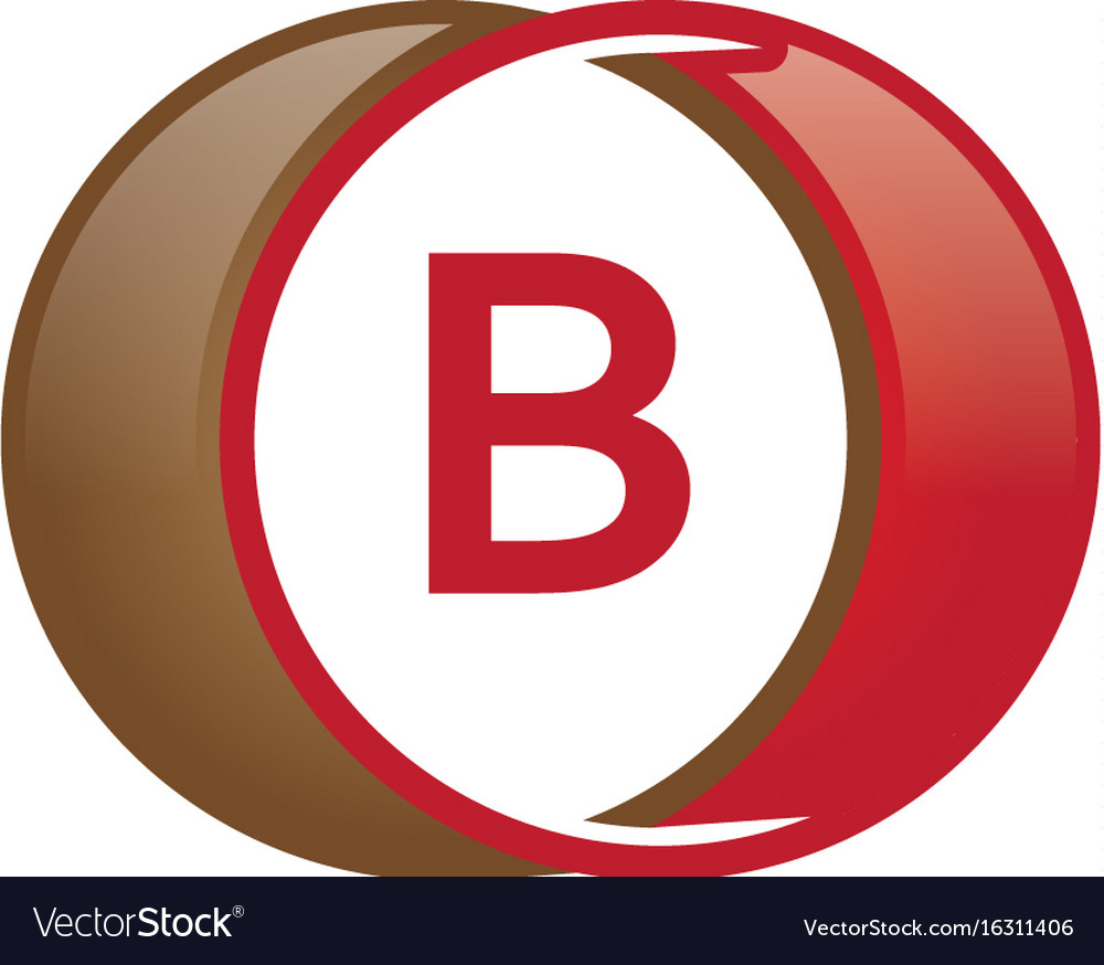 B letter circle logo vector image