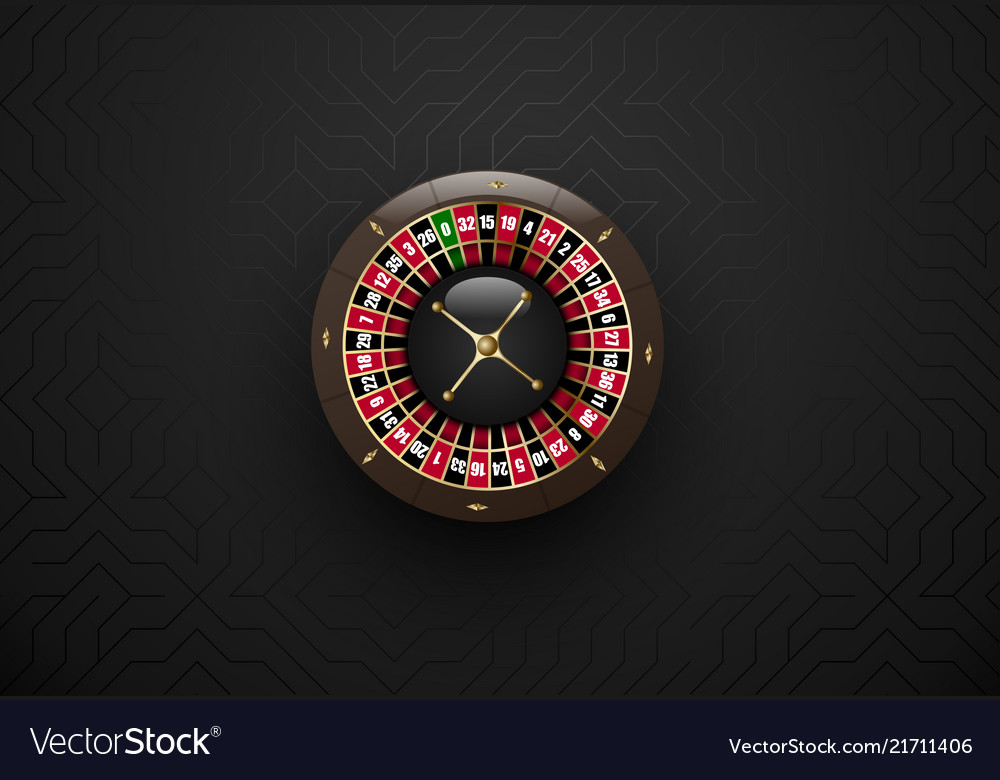 Black casino gambling roulette wheel dark