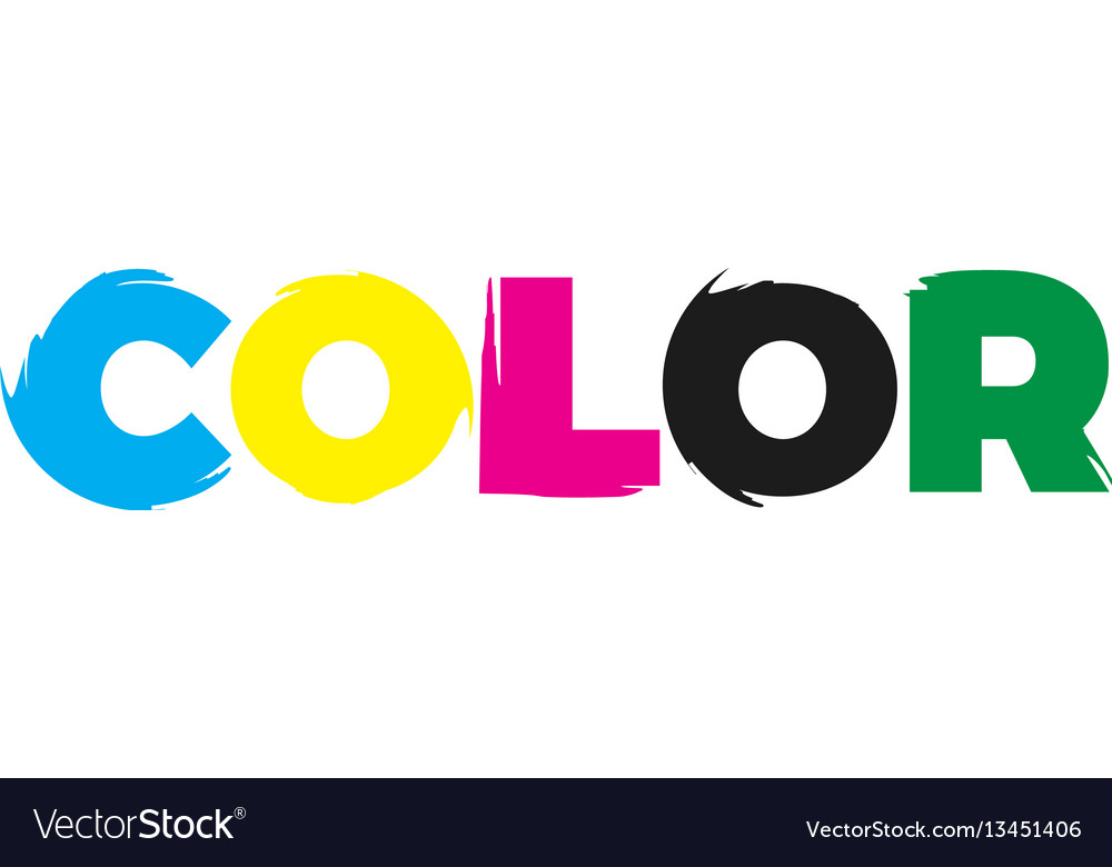 Color paint logo