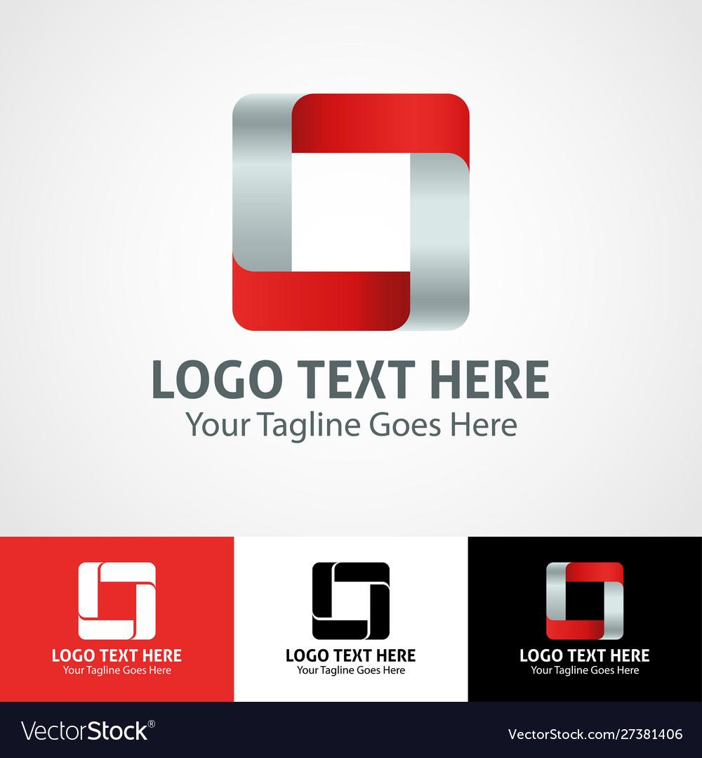 Hi-tech trendy initial icon logo o
