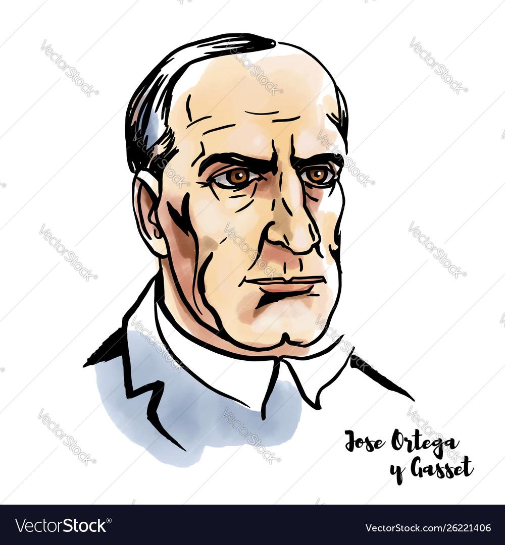 Jose Ortega Y Gasset Portrait