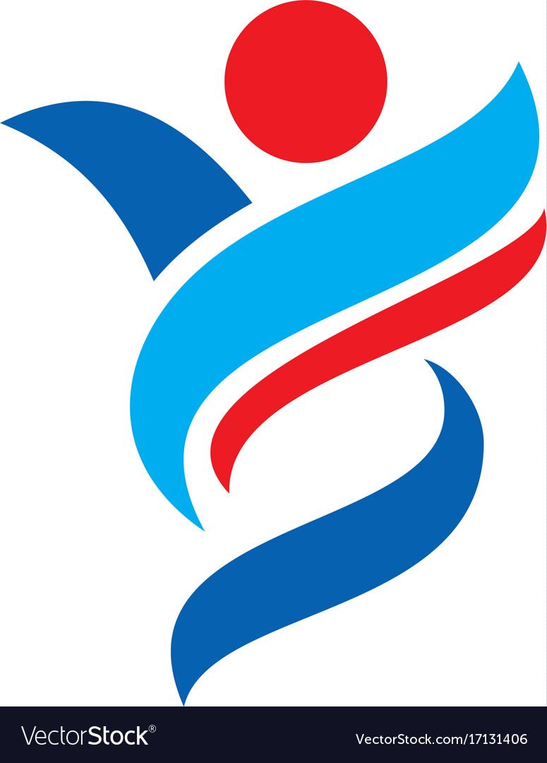 People abstract sport logo