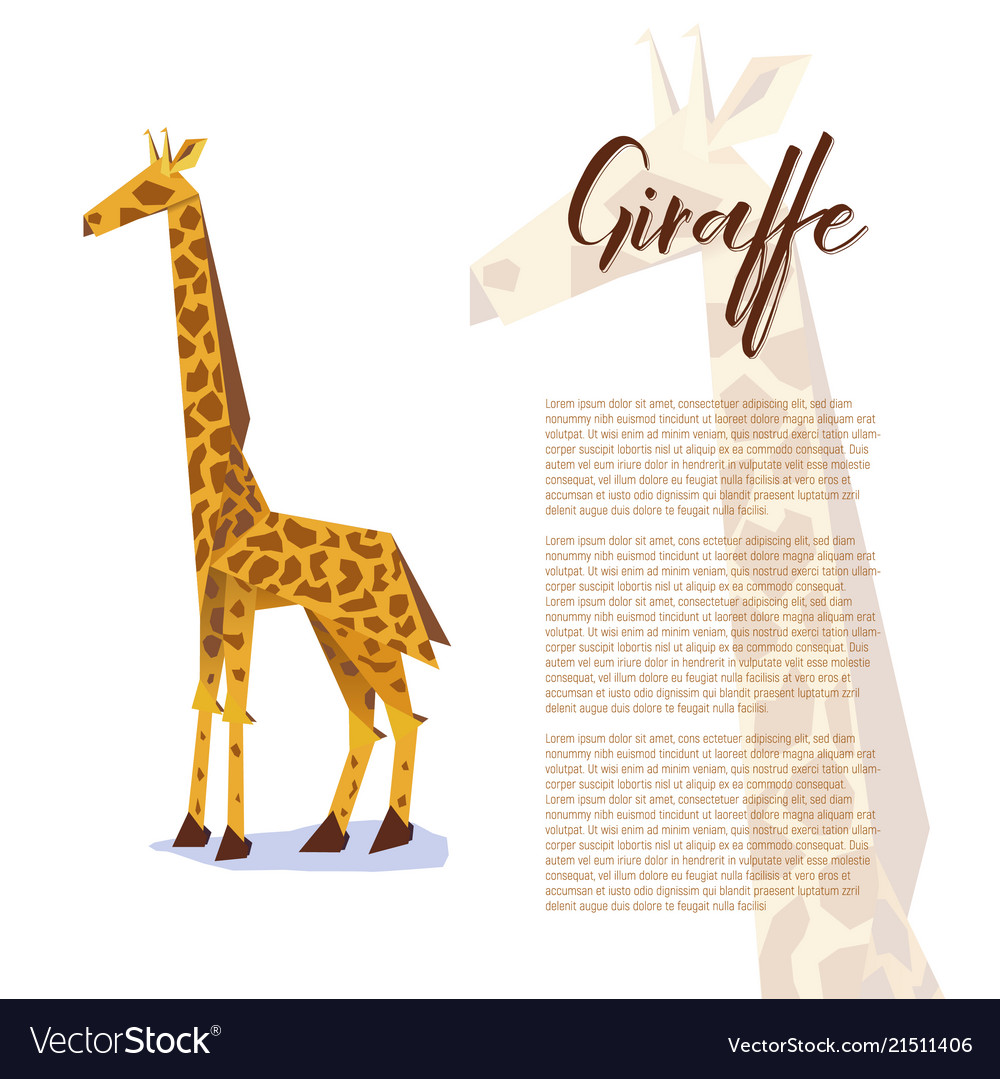 Giraffe Origami Vector Images 69