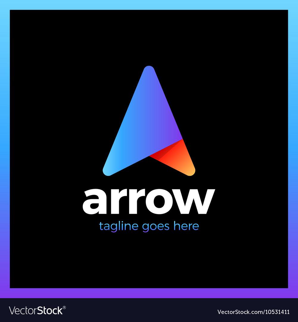 Arrow Up Letter A logo