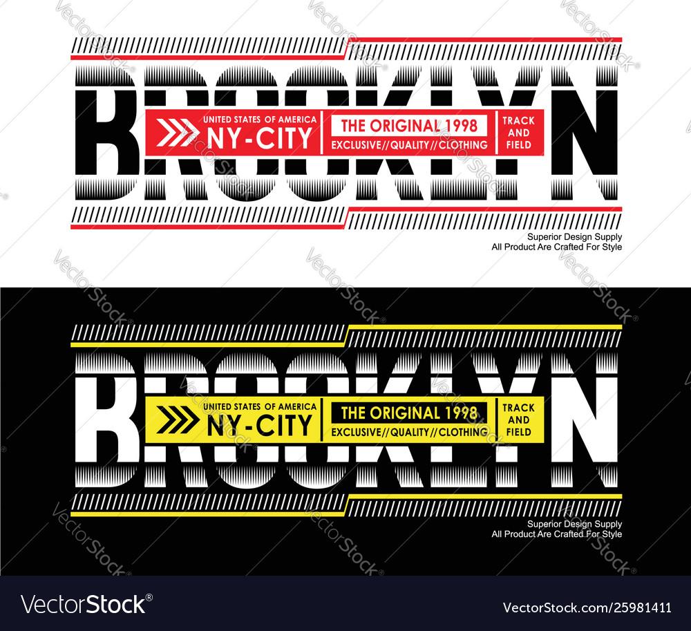 Athletic brooklyn sport typography design