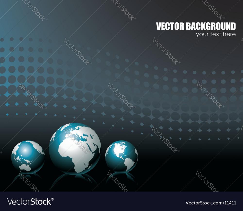 Background with three globe
