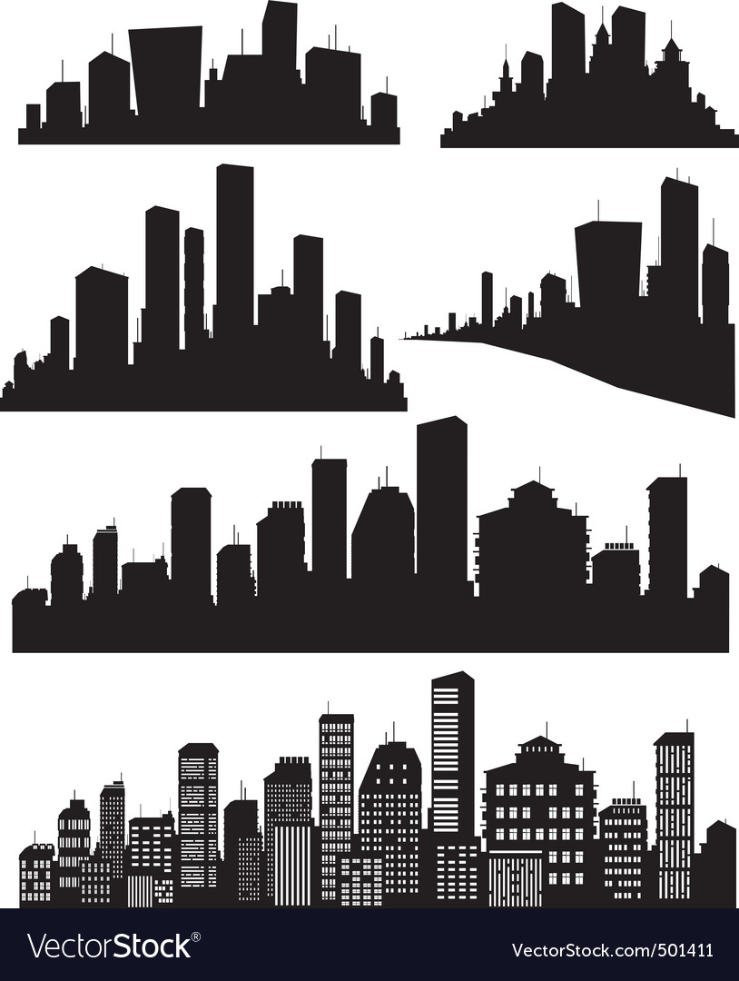 cityscape royalty free vector image vectorstock rh vectorstock com Cityscape Logo Cityscape Illustration