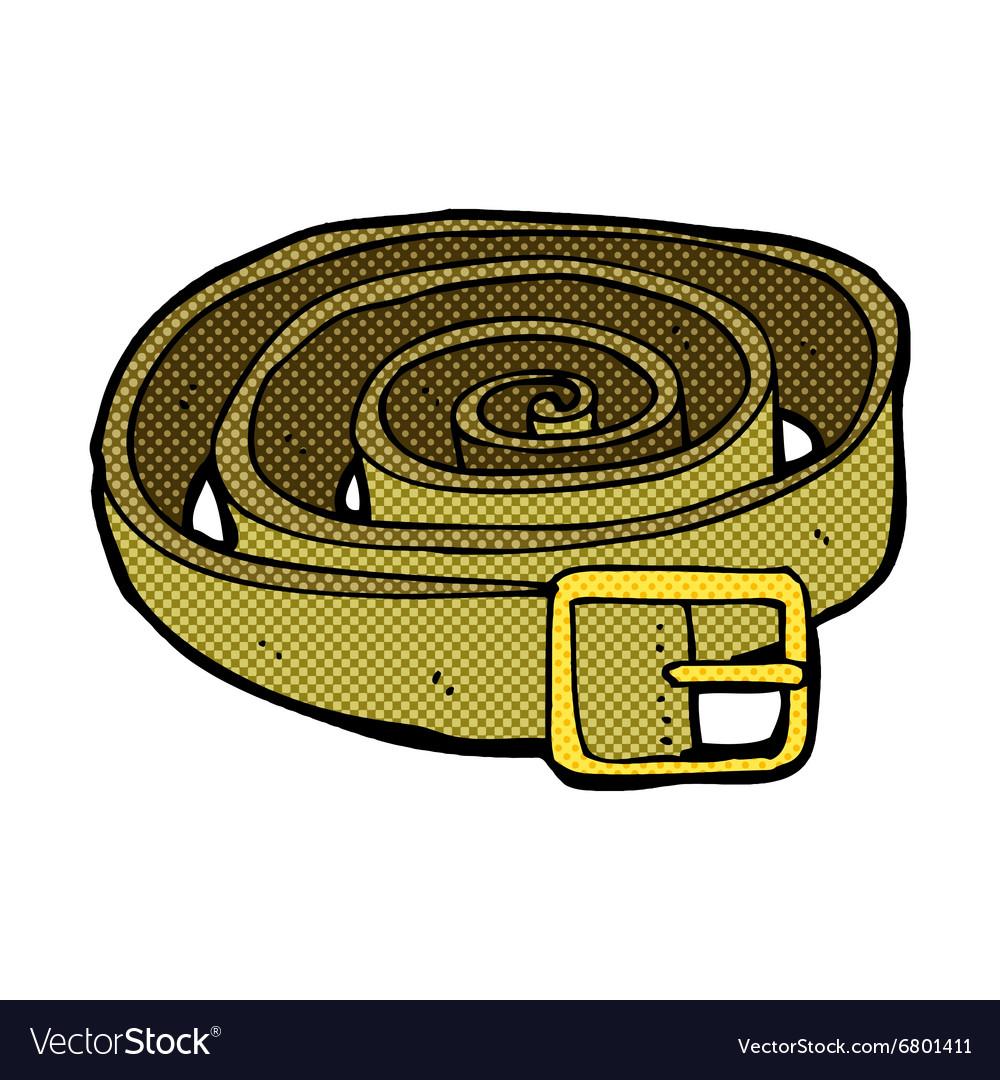 Comic Cartoon Leather Belt Royalty Free Vector Image